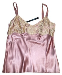Anne Klein Pink Silk Lace Elegant Top