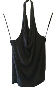 Ann Taylor LOFT Stretch Night Night Out Black Halter Top