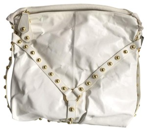 bebe Leather Studded Tote Travel Hobo Bag