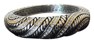Other Emma Skye Jewelry Designs 2-Tone Crystal Cable Bangle Bracelet fits 6