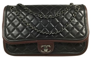 Chanel Classic Leather Quilted Single Flap Shoulder Bag