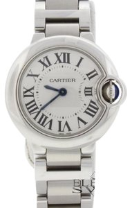 Cartier Cartier Ballon Bleu Ladies 29MM Stainless Steel Watch W69010Z4 Box&Papers