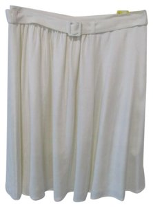 Theory Anca Pleated Skirt White