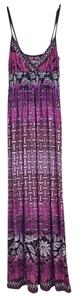 Multi-Color Fuschia, Purple and Black Maxi Dress by bailey blue Beach Wear Maxi Wrinkle-free Long