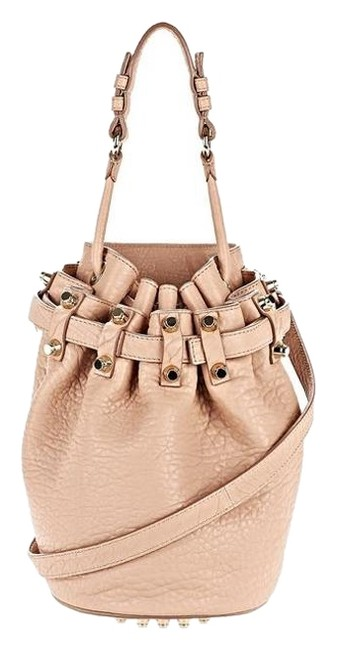 Item - Small Diego/Pebbled Taupe/Rosegold Hardware Taupe Lambskin Cross Body Bag
