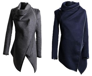 Wrap Open Cardigan Navy Blue Jacket