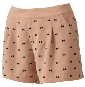LC Lauren Conrad Dress Shorts nude / black