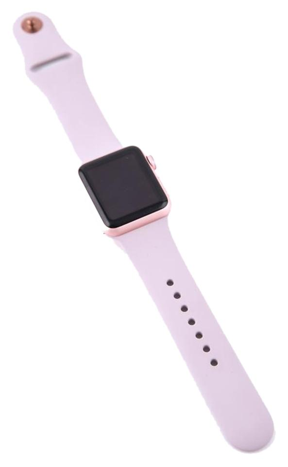 new product 704f3 dba2b Apple Rose Gold Sport 42mm Aluminum Case with Stone Sport Band Watch 24%  off retail