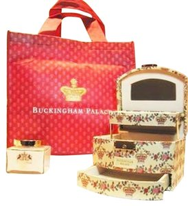 Buckingham Palace Gift Set from the Official Royal Collection Trust Shop; Jewelry Case, Royal Hyacinth Hand Cream (200 ml/6.77 Fl. Oz.) and Buckingham Palace Carry Bag - [ Roxanne Anjou Closet ]