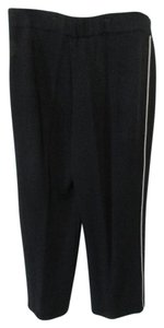 St. John Wool Blend Casual Side Stripe Sport Athletic Pants Blue