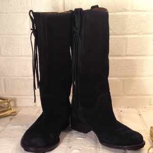 Daniblack Black Leather Suede Boots