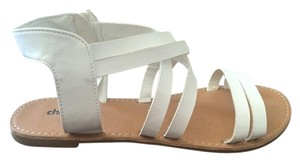 Charlotte Russe Strappy White Sandals