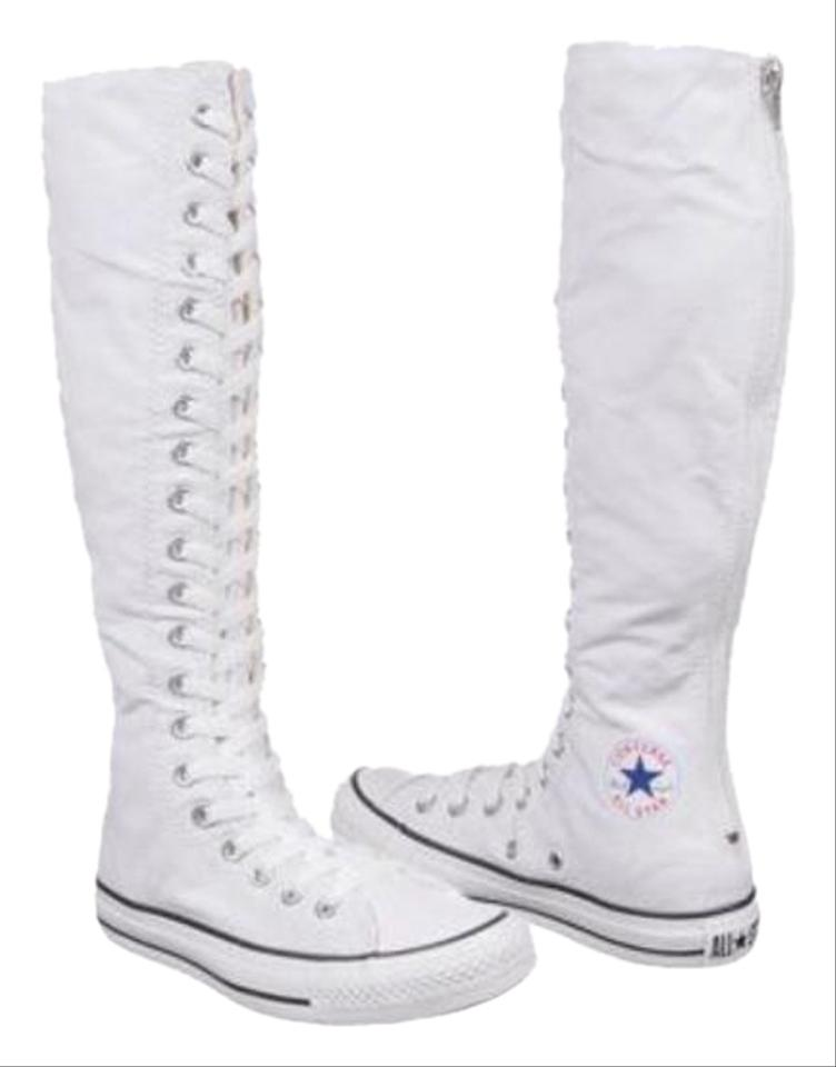 Converse White New Tall Sneakers. Size  US 6 Regular (M ... ae23c69e5