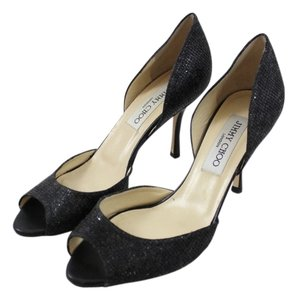 Jimmy Choo Peep Toe Black Pumps