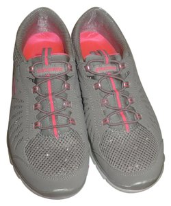 Skechers Casual Comfortable Gray/Grey, Silver, Pink, Sparkle Athletic