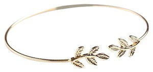 Other Gold Delicate Leaf Cuff Bracelet