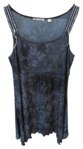 Sno Skins short dress Blue Tie Dye Empire Waist Draped Above Knee Sleeveless on Tradesy