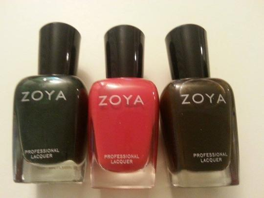 Zoya ZOYA Professional Nail Polish Lacquer set of 3 colors.
