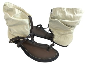 MIA Brown and White Sandals