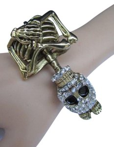 Other Women Bracelet Fashion Antique Gold Skeleton Jewelry Halloween Cuff Skull
