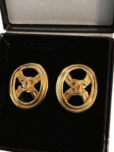 Chanel CHANEL Vintage CC Logo Earrings