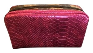 LeSportsac Pink Snake Rectangular Cosmetics Bag