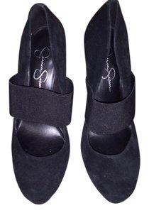 Jessica Simpson Suede Size 9 Stilletto black Pumps