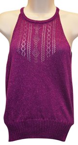 Nanette Lepore Knit Tied-neck Top Fuchsia