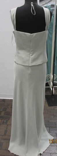 Montage Sage Satin Back Crepe 213968 (Mom-3) Formal Bridesmaid/Mob Dress Size 22 (Plus 2x)