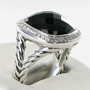 David Yurman David Yurman Ring Albion 14mm 0.30cts Diamonds Black Onyx 925