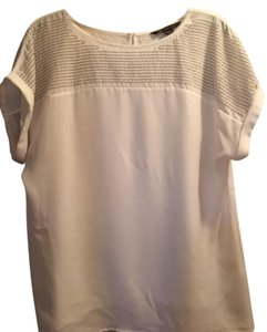 A|X Armani Exchange Top White with silver chain detail