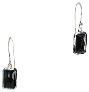 Ippolita Ippolita Rock Candy Earrings Rectangular Mini-drop Black Onyx 925