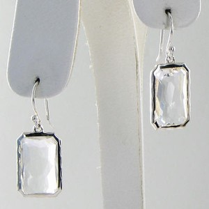 Ippolita Ippolita Rock Candy Earrings Rectangular Clear Quartz 925