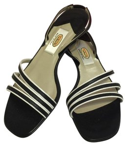 Talbots Black & White Sandals