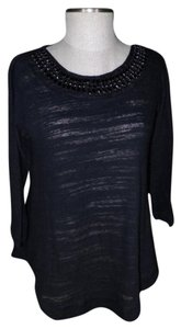 Bobeau Beaded Slub Tunic