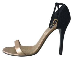 Alexander McQueen Black, gold Sandals