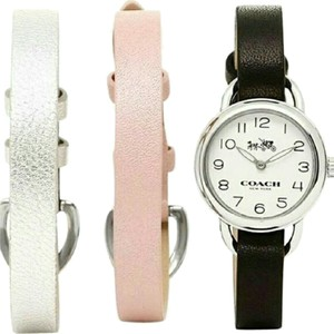 Coach Leather Coach Watch Set with Interchangeable Colors Nwt/Nwb