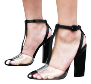 Alexander Wang Black and Clear Sandals