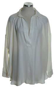 Vince Popover Shirt Silk Boxy Tunic