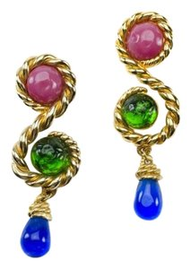 Chanel Chanel Gripoix Dangle Earrings