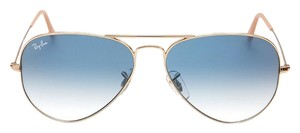 Ray-Ban Brand New Ray-Ban RB3025 001/3F Gold/Light Blue Gradient Lens Sunglasses 62mm