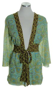 Sweet Pea by Stacy Frati Floral Tie-front Stretch Tunic