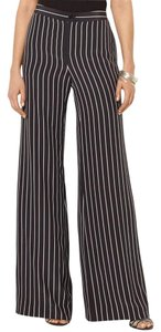 Ralph Lauren Wide Leg Pants Black/Pearl (white)