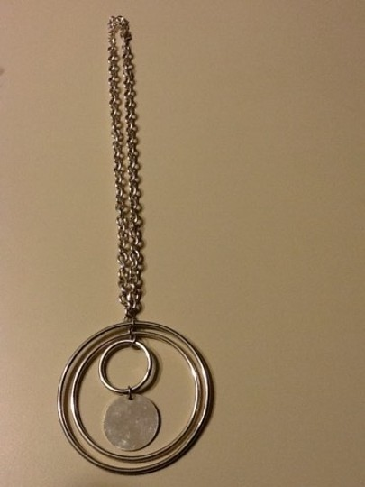 Other Silver Tone 3 Ring Necklace Image 1