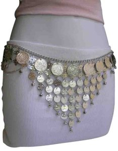 Other Women Silver Chains Coins Metal Fashion Belt Wide Dancing 27-40 India