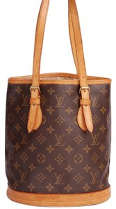 Louis Vuitton Bucket Monogram Tote in Brown