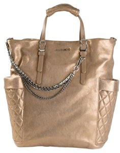 Jimmy Choo Blare Handbag Gold Tote in metallic