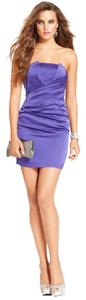 Guess By Marciano Strapless Mini Silk Dress