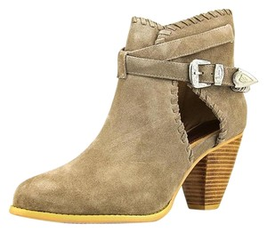 Madison Harding Suede Western Silver Hardware Sand Boots