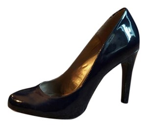 The Limited Stiletto Heels Classic Patent Navy Pumps